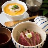 『ズワイガニとカニミソの茶碗蒸し』や『和牛のたたき』など豪華な一品をご提供