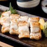 脂がのった鹿児島県産の鰻を白焼きでご提供