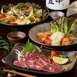 各コースでご提供する料理も色鮮やかで豪華な一品ばかりです!
