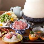 【コース】 石垣牛やあぐー豚を味わえる贅沢なコースをご用意