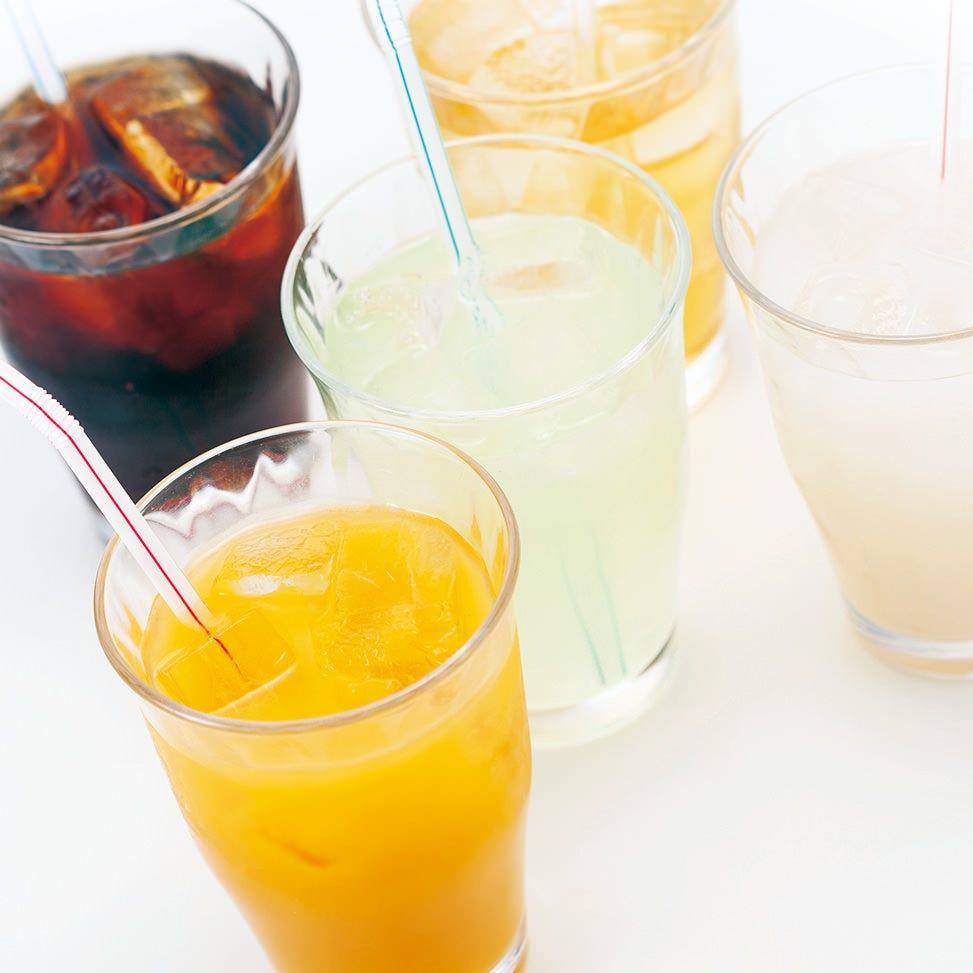 15種類のソフトドリンク飲み放題もご用意