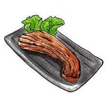 三元豚バラ黒胡椒焼き