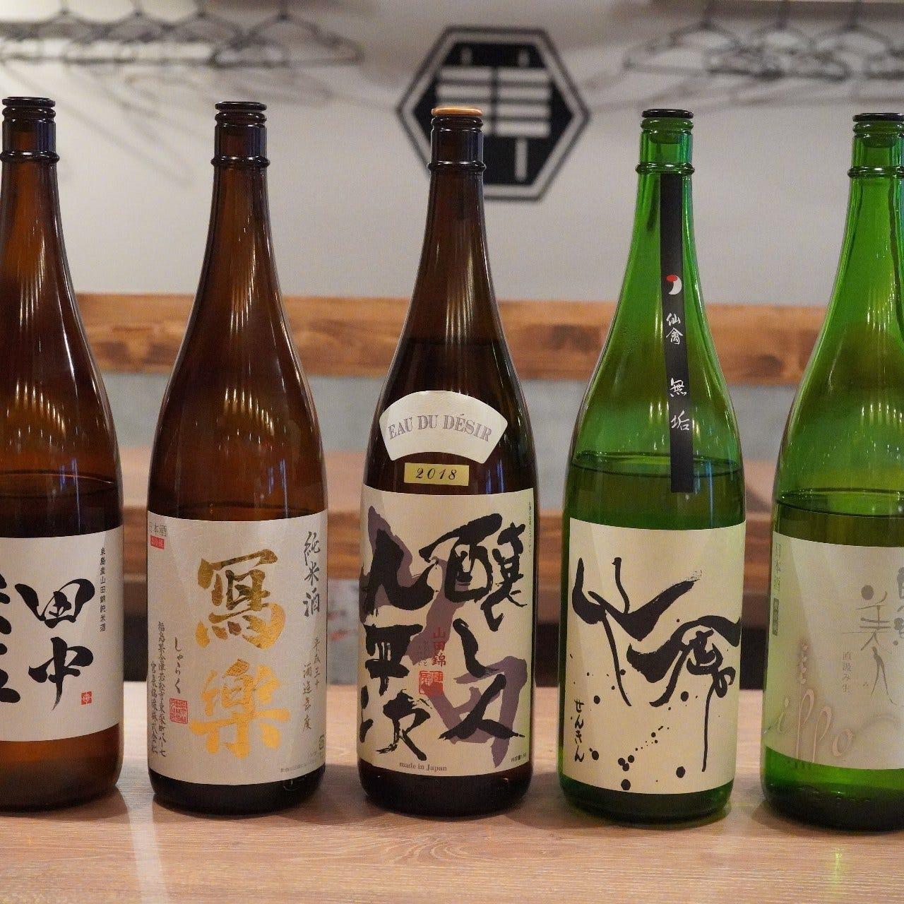 全国各地から選んだ厳選日本酒・焼酎