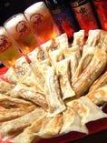 名物!紅虎の餃子は3種類の食べ放題で3,300で受付中!