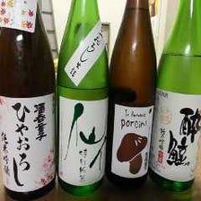 日本各地の地酒が豊富!!