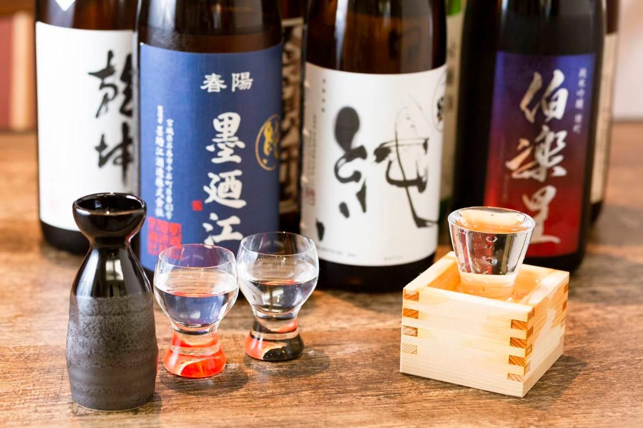 お蕎麦に合わせた日本各地のお酒を!