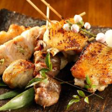 国産ブランド鶏「美桜鶏の串焼き 五本盛り合わせ」