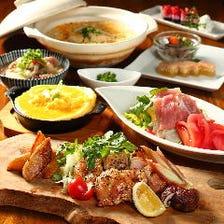 【飲み放題付】コスパ◎旬の食材を詰め込んだ本格和食をお手軽に 全7品『椿-TSUBAKI-コース』2980円