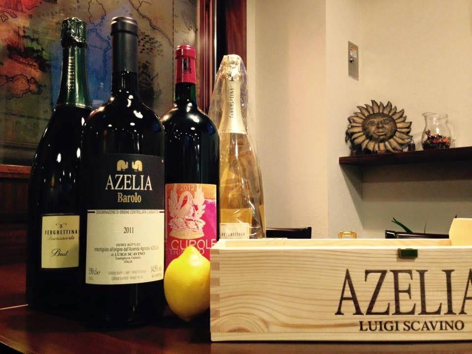 豊富なワインからお好みを…。