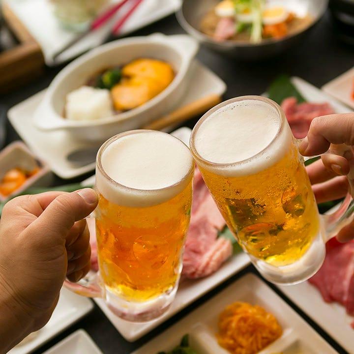 飲み食べ放題で心置きなく乾杯!2時間仲間とワイワイ楽しんで♪