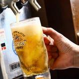焼肉には外せない生ビールも飲み放題でお楽しみいただけます!