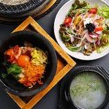 食べ放題は、サイドメニューが充実!ピビンバ、サラダ、スープなど多数ご用意しています