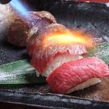 健康焼肉フルコースに登場する肉寿司