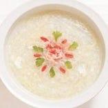 タラバガニ入り卵白スープ