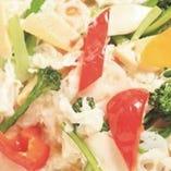 蟹肉と卵白の炒め物