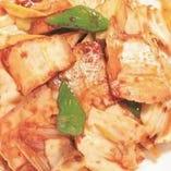 豚肉とキャベツの辛口炒め