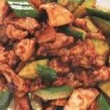 鶏の中国味噌炒め