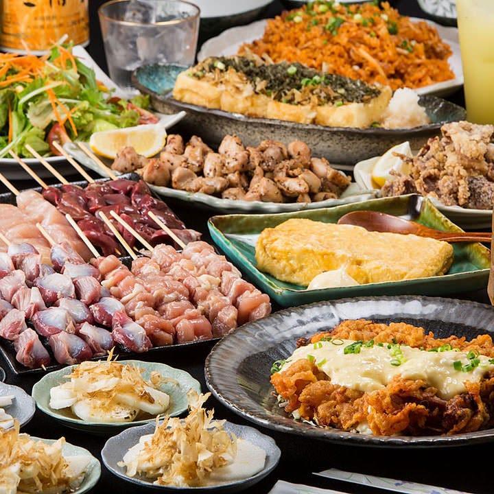 【GOTO EAT対応】鶏づくしコース<全9品>120分間 飲み放題付き 3278円