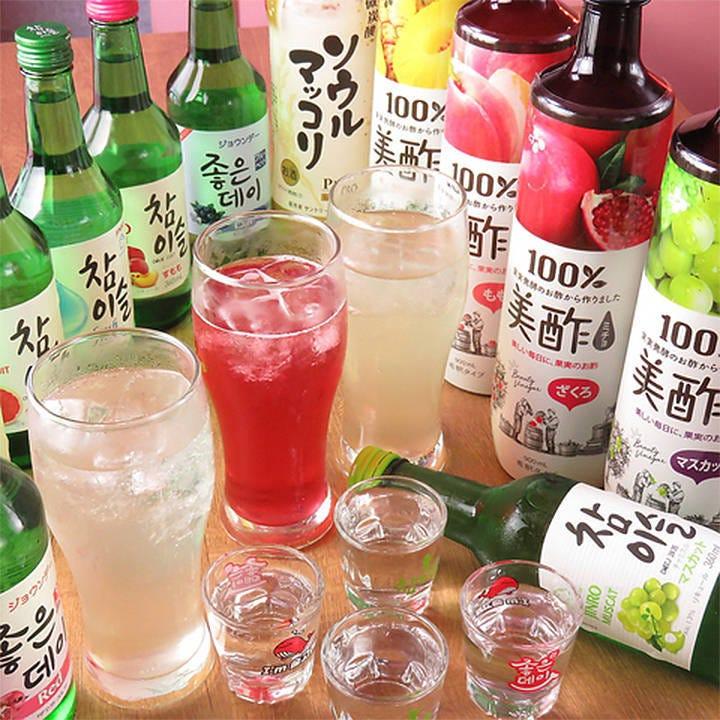 美酢やマッコリなど人気の韓国酒充実