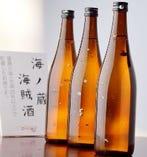 雄勝の海で貯蔵した貴重な日本酒。その名も『海賊酒』!!