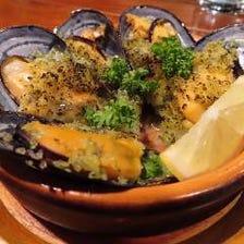 ムール貝の香草パン粉焼き