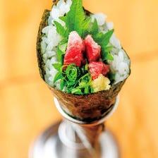 馬肉手巻き寿司