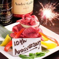 お祝い事には肉ケーキ☆
