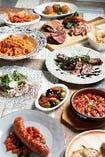 ディナーメニューはつまんで楽しめる~しっかりお食事まで。