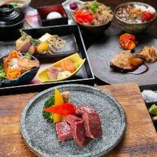 【宴会/食事会に】120分飲放付!牛ロース石焼き、鮮魚2種、豚ロースカツ全8品『峰コース』
