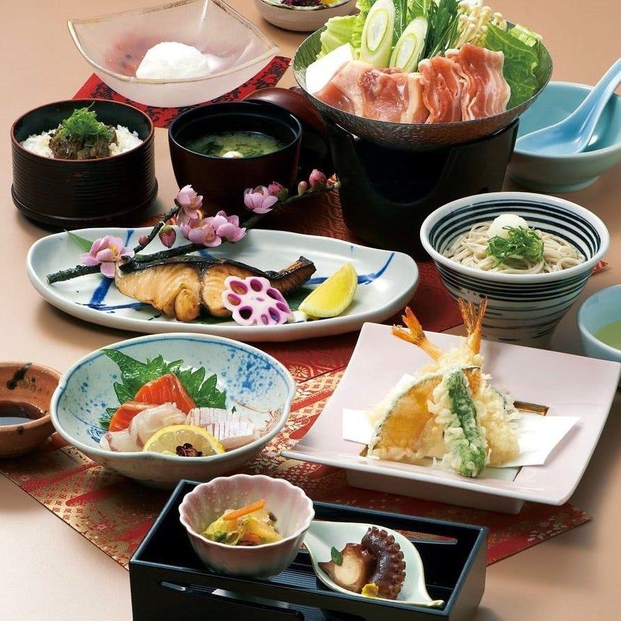 花祭(飲み放題付き)5000円 ご家族や友人との食事会に。