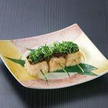 揚げ豆腐の肉味噌田楽
