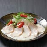 蒸し鶏のシーザーサラダ