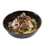 豆腐と梅じゃこの和風サラダ