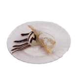 手作り三角チョコパイ(アイス添え)