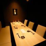 【完全個室】接待・小宴会に最適な高級感溢れるプライベート空間|6~8名様×2室