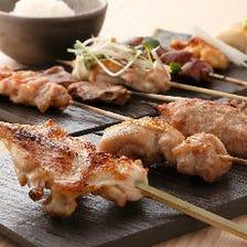 鶏・炭・塩…こだわり抜いた串焼き