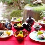 新鮮な食材を使った色とりどりのお食事をお楽しみください。