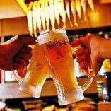 【地酒含む約80品が飲み放題】 プレモル、フルーツハイボール、焼酎、日本酒も!