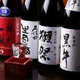 【プレミアム飲み放題】 宴会コースに+500円で、5種の美味しい地酒が飲み放題に!