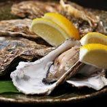 大ぶりな身の牡蠣も!日本酒に良く合います。