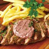 牛ステーキ&ポテトフリッツ