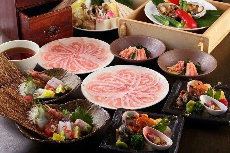 【当店名物「マテラ豚」を使用】豚しゃぶコース 全7品 8000円(税抜)