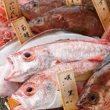 毎日、色々なお魚が入荷されますので〝たらい盛り〟でご覧いただいております。