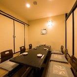 30名まで可能な完全個室席完備!宴会、記念日、接待にもおすすめ