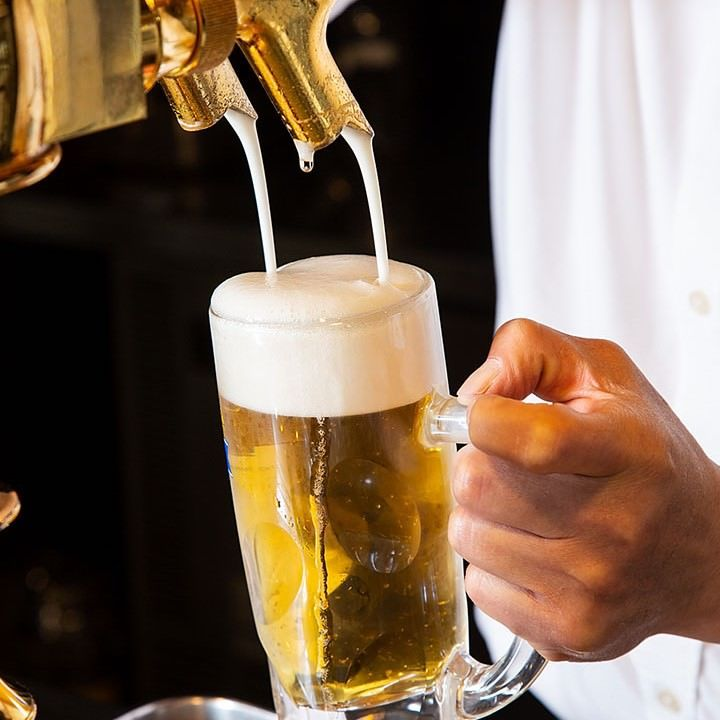 7種類の樽生キリンビールが勢揃い