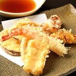 銀ぶしの天ぷら盛り合わせ【国内】