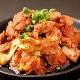 熱々鉄板豚キムチ