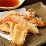 銀ぶしの天ぷら盛り合わせ