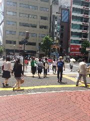 晴海通りを渡ります。