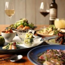 【お料理のみ】地物の有機野菜や旬のお魚を楽しめるコース 2,500円(税抜)